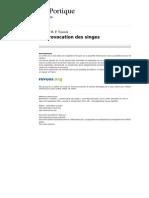 Leportique 2456-23-24 La Provocation Des Singes