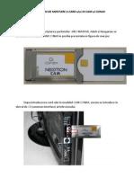Instructiuni de UInstructiuni de Utilizare Modul Cam Conaxtilizare Modul Cam Conax