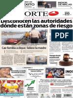 Periódico Norte edición del día 20 de septiembre de 2014