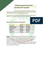 Engineering Services Exam Analysis