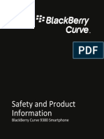 BlackBerry Curve 9380 Smartphone Safety and Product Information 1334716 0930095140 001 US