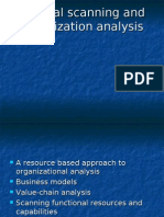 (4) Internal Scanning, Organizational Analysis