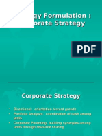 (6)Strategy Formulation, Corporate Strategy