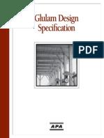 Glulam Design Specs