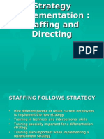 (9)Strategy Implementation, Staffing and Directing