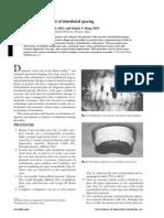 Diagnostic Management of InterdenDtal Spacing