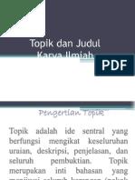 (2) Topik & Judul KI