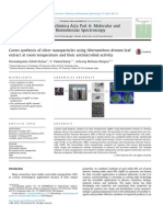Green Synthesis of Silver Nanoparticles Using