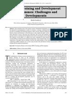 ROI of Training and Development Programmes