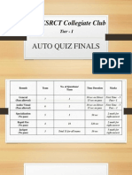 Auto Quiz Finals
