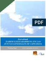 Kutxabank. XABIER EZEIZABARRENA EN LAS JUNTAS GENERALES DE GIPUZKOA