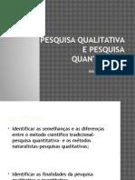 PESQUISA+QUALITATIVA&PESQUISA+QUANTITATIVA