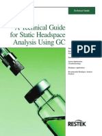 A Technical Guide for Static Headspace Analysis Using GC