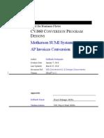 CV060 AP Invoices Conversion1D