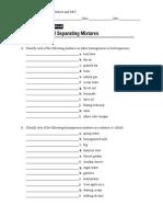 S C 7 1_Mixtures Worksheet and KEY
