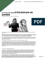 En Iran, du fouet et de la prison pour une journaliste - Libération