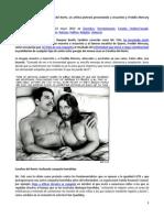 Un Artista Protesta Presentando a Jesucristo y Freddie Mercury Como Pareja Gay. Yesyd Rodríguez