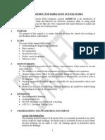 Method Statement of Steel Fabrication
