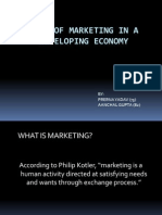 Role of Marketing in a Developing Economy