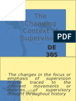 The Changing Context of Supervision