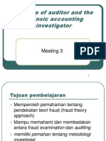 Meeting 3_The Role of Auditor and the Forensic Accounting
