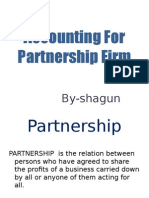 Accounting for Partnership Firm