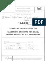 10 E 038 (Rev 2014 Junuary) Standard Specification for Electrical Standard - LLN