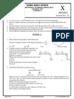 Sipho 10 class 2013 Question Paper