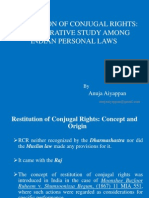 Restitutionofconjugalrights Acomparativestudyamongindianpersonallaws 110912155458 Phpapp01