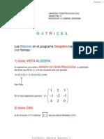 Apuntes Para Trabajar Con Geogebra Matrices Plataforma