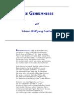 Goethe- Die Geheimnisse