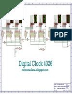 Skematik Jam Digital 4026