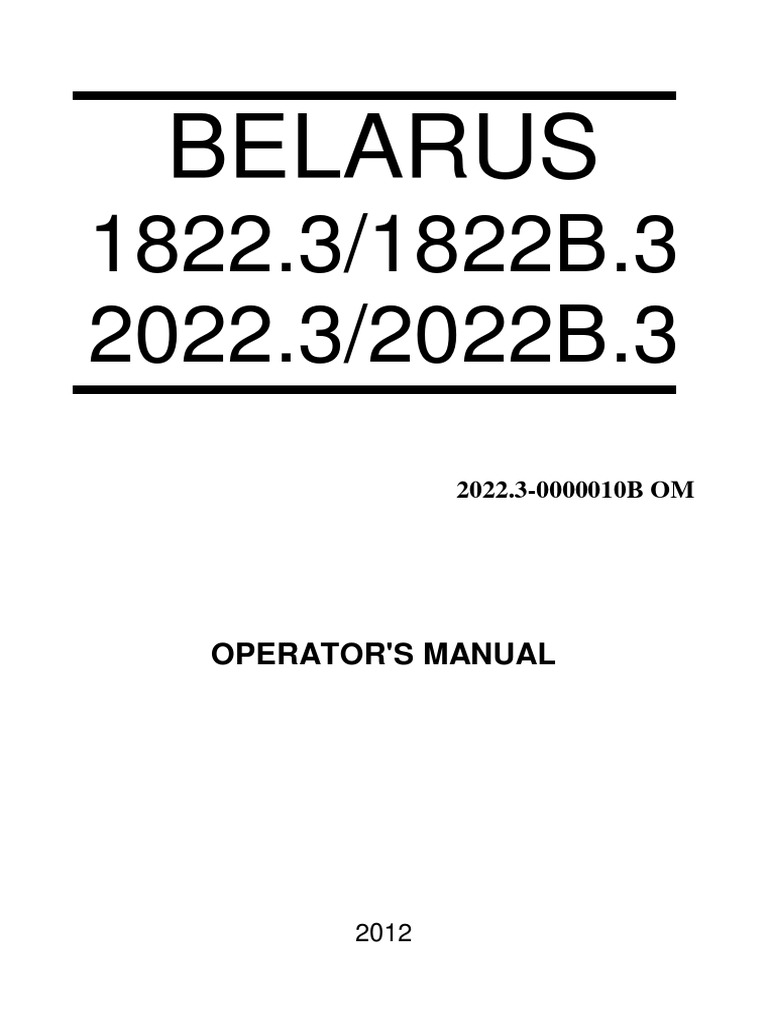Belarus 18223 Transmission Mechanics Tractor Iveco Daily Diagram Repair Manuals Wiring Diagrams