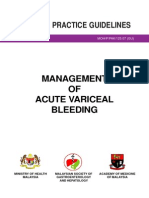 Management of Acute Variceal Bleeding