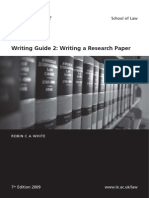 Writing Guide Research Paper 2009