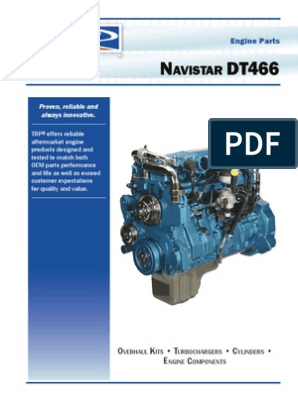 Navistar DT466 Engine Catalog | Cylinder (Engine) | Fuel Injection
