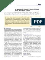 Equilibrio Etilenglicol y Agua
