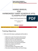 Training Manual for Harmonized Tariff Schedule (Hts) Classification