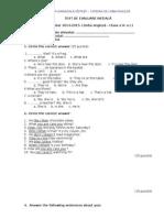 Test de Evaluare Inițială - 5a, b