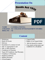 Sale of Goods Act 1930- Candida