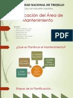 Tema 4. -Planificacion Del Area de Mantenimiento FINAL