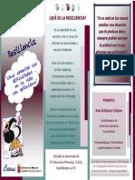 folleto educar la resiliencia