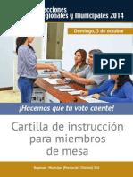 Cartilla Miembro Mesa Regional Municipal Provincial Distrital SEA