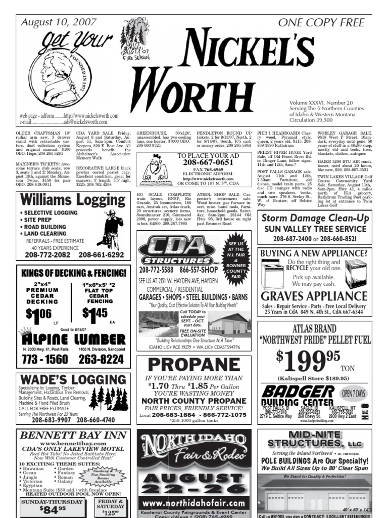Nickel's Worth Classifieds   Nature