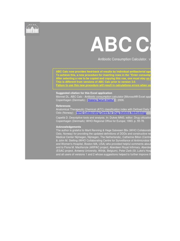 ABC_Calc_3 12 | Beta Lactamase | Antibiotics