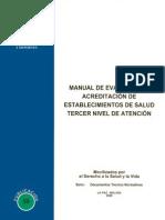 Manual de Evaluacion y Acreditacion de Establecimientos de Salud Tercer Nivel de Atencion
