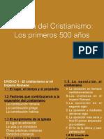 unidad 1 historia del cristianismo- los primeros 500 aos - bosquejo clave nombres lugares y fechas
