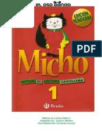 Micho Metodo de Lectura Castellana No 1 Edicion Mayusculas