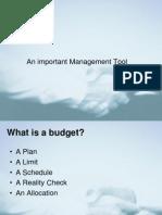 Budget and Budgeting