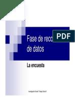Articulacion Con Investigacion Social i Ts II Fase Recoleccion de Datos